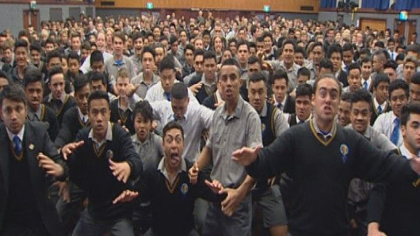 Around six hundred students were involved in the performance.