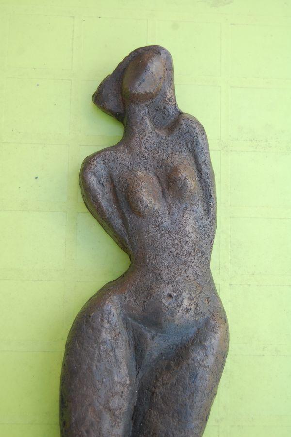 Bronze Resin #sculpture by #sculptor Kay Singla titled: 'Twist (female Dancer Torso Relief sculpture statuette)'. #KaySingla