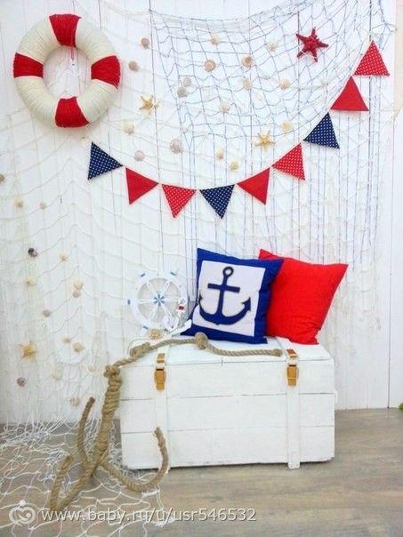 Детский ДЕНЬ РОЖДЕНИЯ в МОРСКОМ стиле (корабельная и подводная тематика). Идеи по организации, оформлению, праздничному столу. …