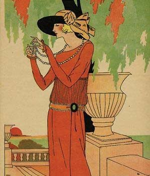 Art Deco postcard.