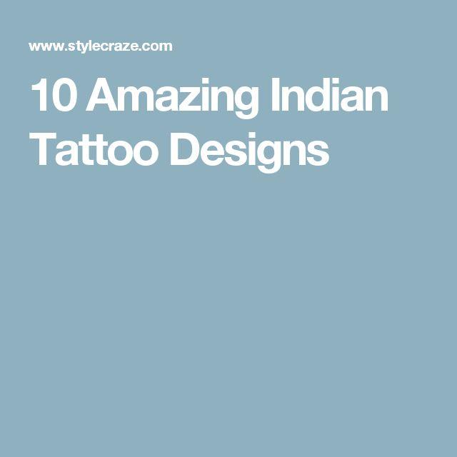 10 Amazing Indian Tattoo Designs