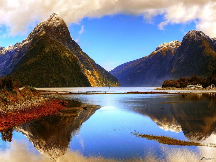 Neuseeland Gebirge See Küste Natur