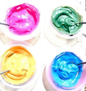 Homemade edible finger painting
