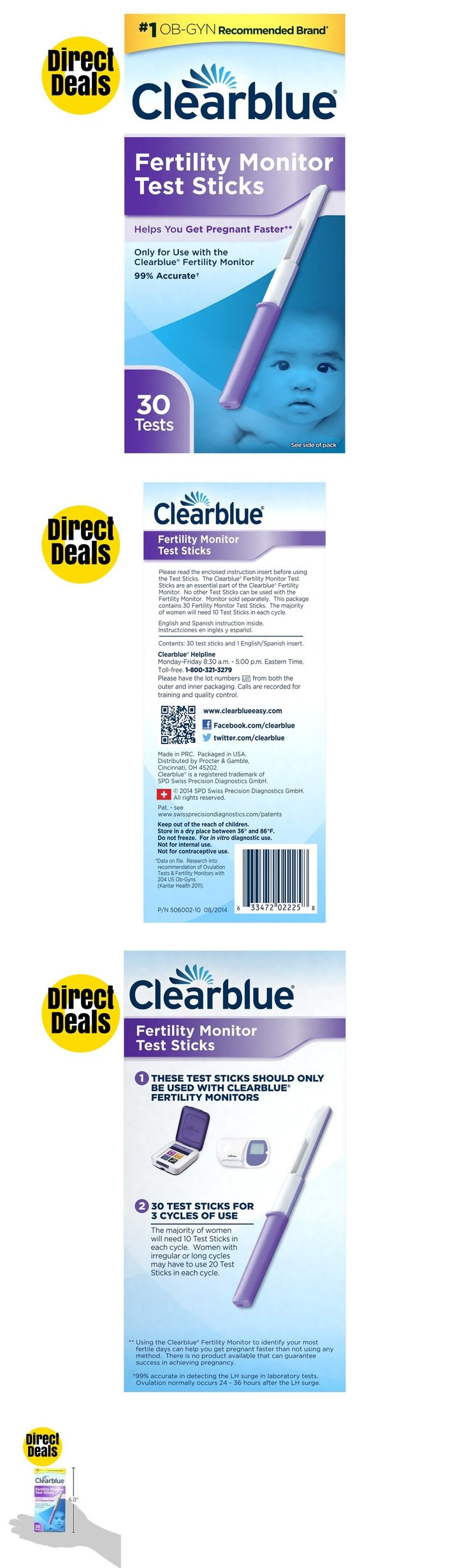 Fertility Monitors and OPKs: Clearblue Fertility Monitor Test Sticks, 30 Fertility Tests -> BUY IT NOW ONLY: $52.64 on eBay!