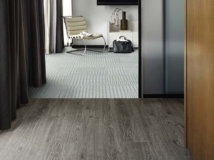 Welcoming our all-new luxury vinyl tile, inspired by elements like wood and stone. Pair them with our modular carpet for seamless, harmonious style. View the collection today. #InterfaceLVT #PerfectFitFloor