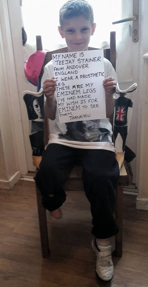 Eminem Responds To 10-Year-Old Amputee Fan Who Wanted The Rapper To See His Legs