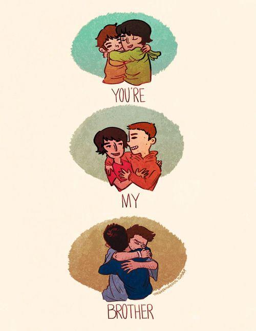 You're my brother | thegeekindenial @ tumblr