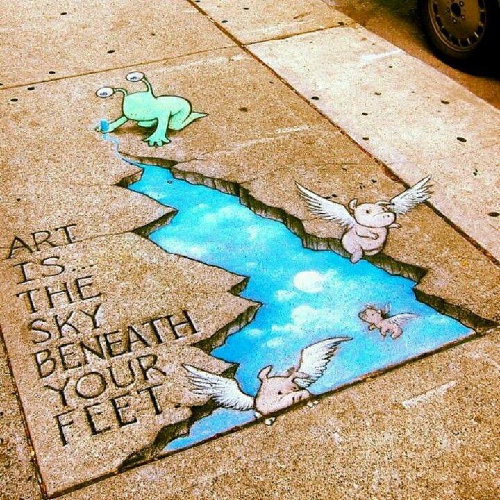 David Zinn, street art #DavidZinn #Street #Art
