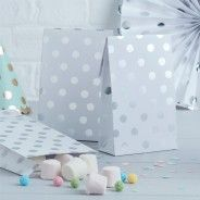 Pick and Mix Silver Metallic Polka Party Bags