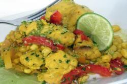 recette de cuisine chili verde, poulet au citron et au maïs