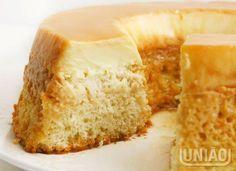 OMG! Esta receita de bolo pudim de coco é uma tentação... Preciso experimentar!
