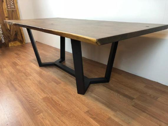 Pedestal Metal Table Base Legs Black For Wood Table Top Quartz