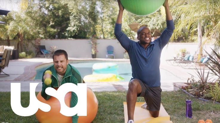 Psych: The Movie   Shawn and Gus Get Back in Shape   USA Network - YouTube