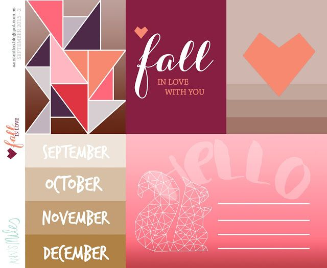Free Fall... in Love Printable Journal Cards {1} from AnnsMiles