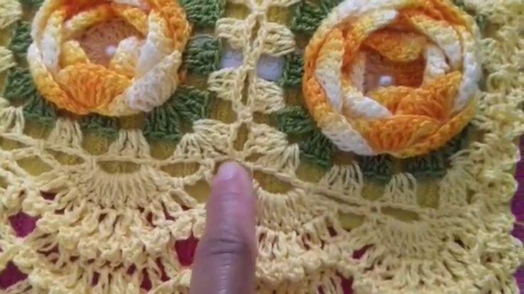 VIDEO AULA; BARRADO EM CROCHÊ  PARA  TOALHAS DE BANHO E ROSTO