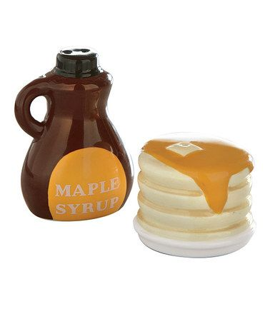 Take a look at this Pancakes & Syrup Salt & Pepper Shakers by tag on #zulily today!