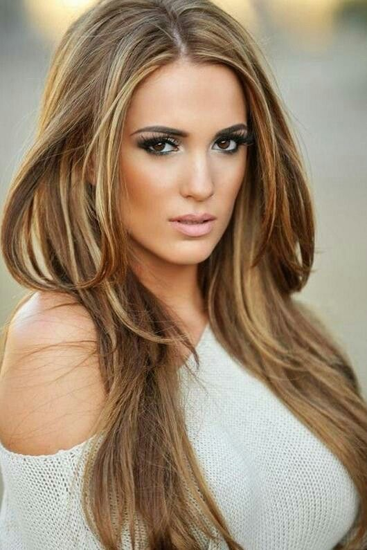 Love love this light brown hair color with highlights  Hair styles  Pinterest  Brown hair