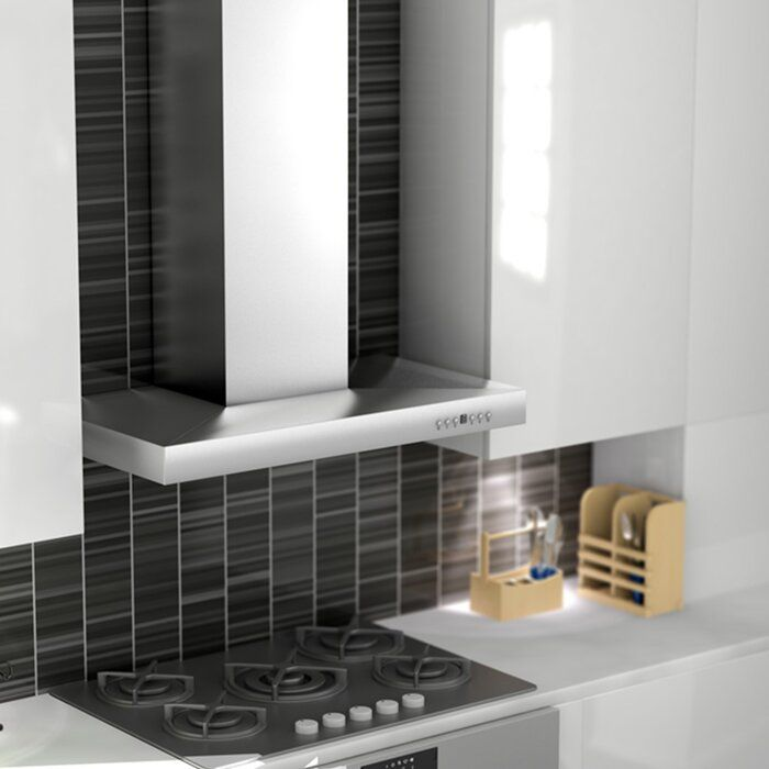 Zline Kitchen And Bath 36 400 Cfm Convertible Wall Mount Range Hood Wayfair In 2020 Wall Mount Range Hood Range Hood Kitchen And Bath