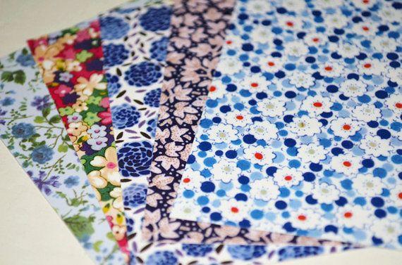 Magnifique Romantic Floral Origami Square Pack papier par Yeestore