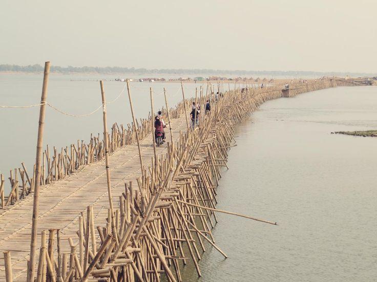 Kampong Cham - Die wohl aufwendigste Bambusbrücke der Welt