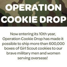 operation cookie drop sign   google search girl scouts