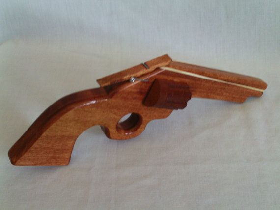 Rubber Band Gun by CountryHandsWoodwork on Etsy