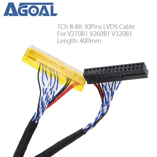 Special For Panel V270b1 V260b1 V320b1 Lvds Cable 1ch 8 Bit 30
