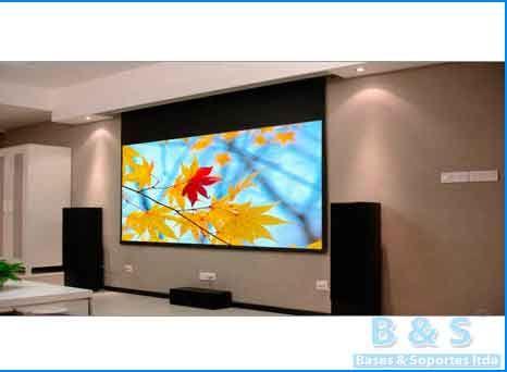 Soportes para televisores led, lcd, plasma, video beams y telones en bogota, instalacion tv | Bases y Soportes Ltda