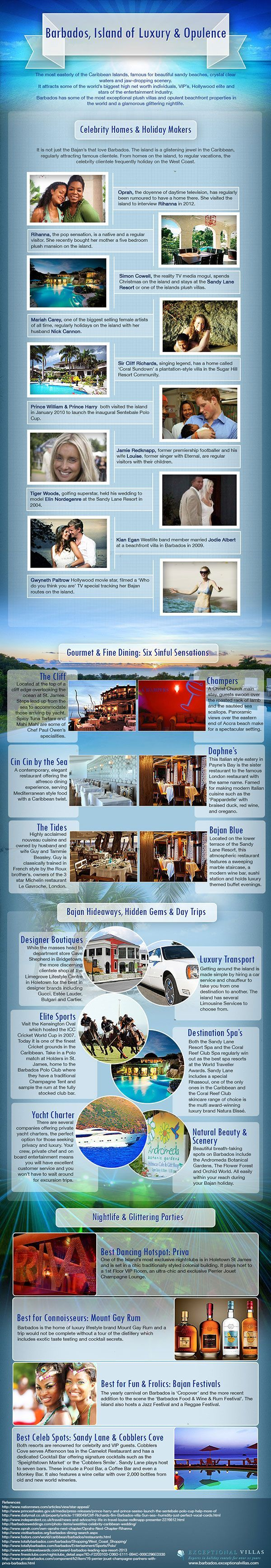 #Barbados the #luxury island infographic