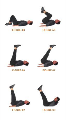 elevaciones de piernas y extensiones