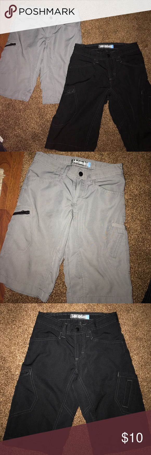 Lee dungarees shorts. Two pair of shorts. One pair is gray and other is black. Great condition. Size 10 in boys. lee dungarees Bottoms Shorts