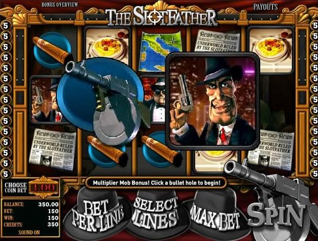 Play the Slotfather 3D video slot game completely free or for money at 1OnlineCasino.com