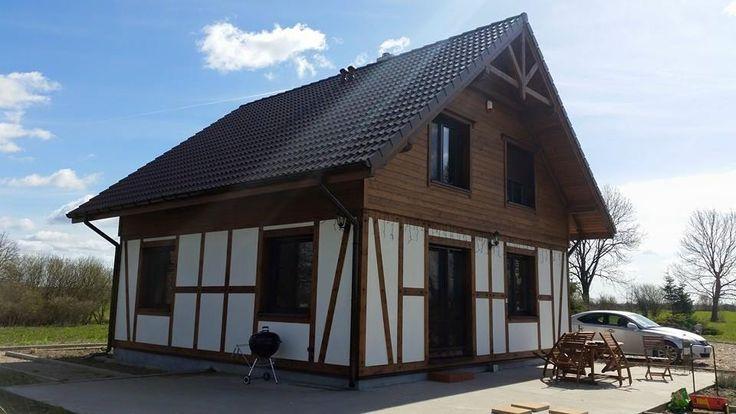 Dom z drewna, całoroczny, szkieletowy, letniskowy