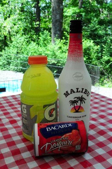 Liquid Skittles Mixed Drink 6 oz. Malibu Mango Ru | Pinterest Most Wanted