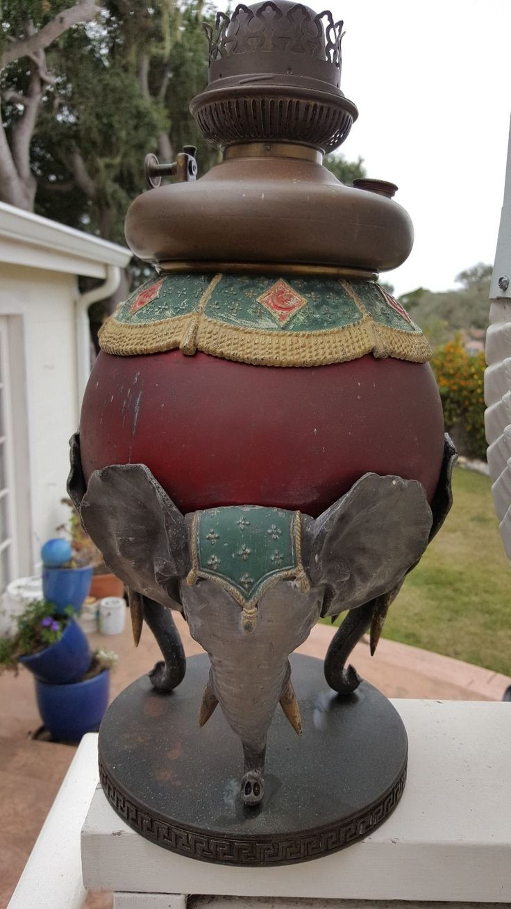 Rare Antique Table Lamps And Elephants On Pinterest