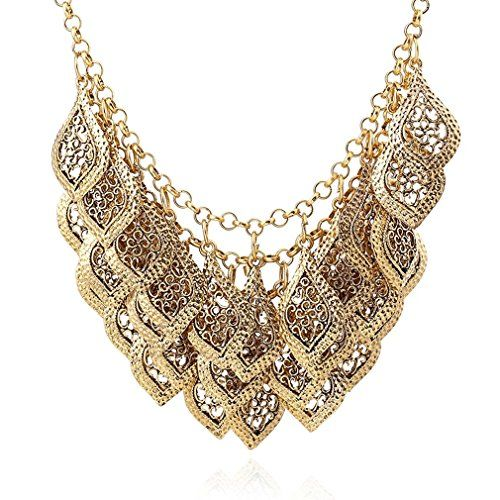 Necklace Length : 46cm ;Chain Extension Length : 6cm Made of alloy, rhinestone It's fashion, creative, full of special means, is a very useful accessory brighten up your look, also as a gift