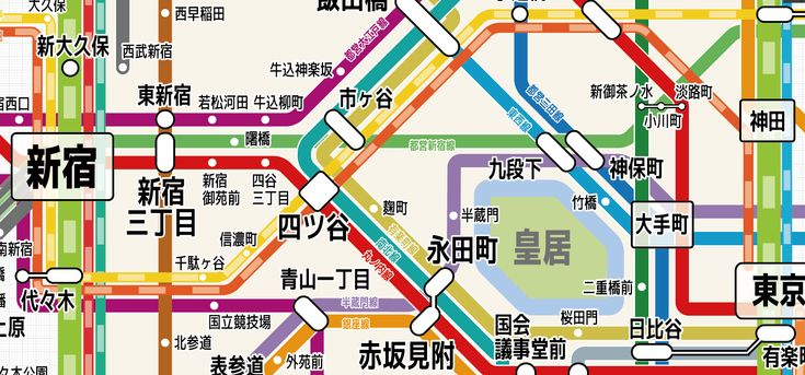 東京の鉄道路線図