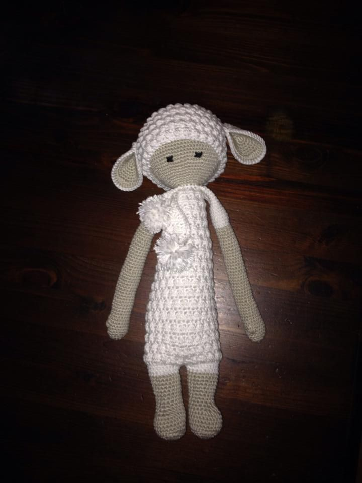 LUPO the lamb made by Jessica J. / crochet patterrn by lalylala