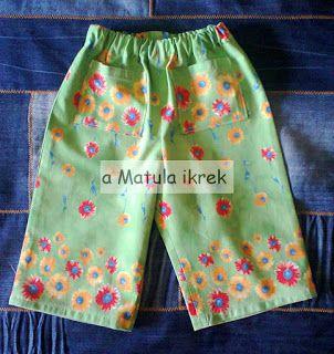 virágos kislánynadrág/ floral girl pants