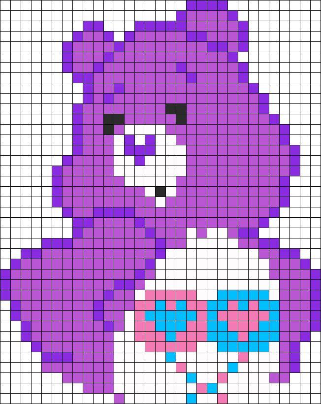 Care Bear Perler Bead Pattern   Bead Sprites   Characters Fuse Bead Patterns