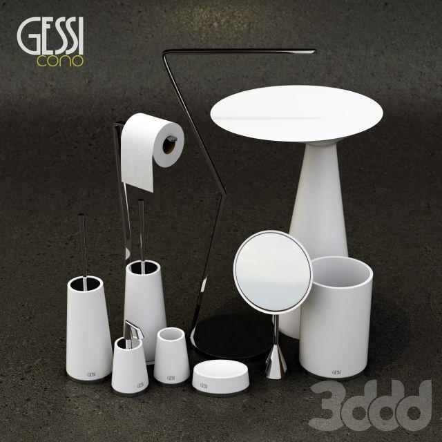 3d модели: Декор для санузла - Gessi Cono Bath Accessories