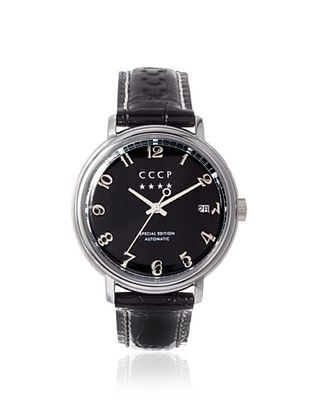 76% OFF CCCP Men's 7021-01 Heritage Black Stainless Steel Watch
