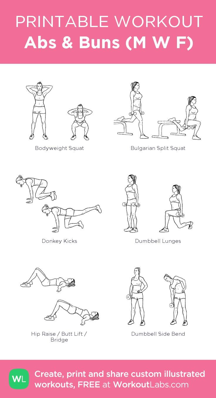 Abs & Buns (M W F): my visual workout created at WorkoutLabs.com • Click thro… – The New Workout Plan | Exercise To Try & Target Problem Areas