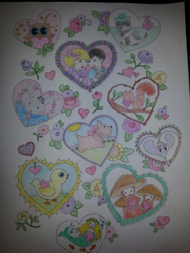 7 Best Images About Finished Coloring Pages On Pinterest