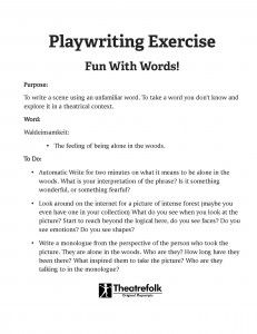 What is Playwriting?