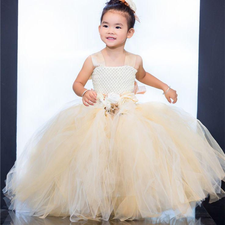 NEW HOT Nylon Tulle TUTU Flower Girl Dress Wedding Easter Junior Bridesmaid Dress Kids Party Princess Pageant Girl Tutu Dresses //Price: $US $29.61 & FREE Shipping //     #clothing