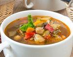 Овощной суп с нутом и лимоном