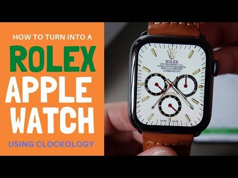 How To Change Apple Watch Face Using Clockology Turn Into Rolex Hermes Watch Clockology Tutorial Yo Apple Watch Faces Apple Watch Change Apple Watch Face