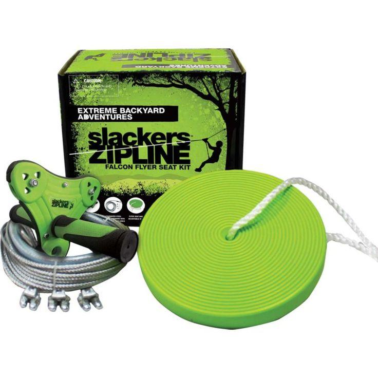 Slackers 40' Falcon Zipline Kit | Zip line backyard, Kids ...