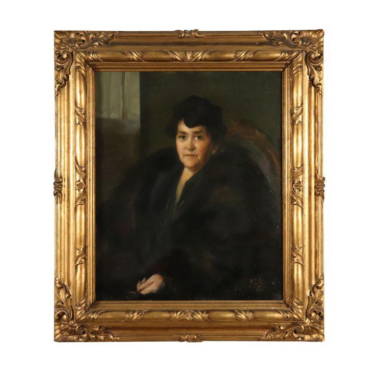 Porträt einer Frau von Luigi Brignoli Ölgemälde 1924
